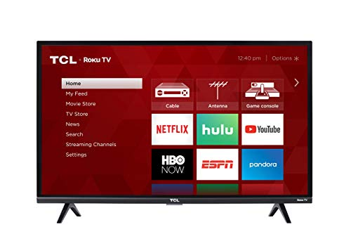 TCL 32S327 32-Inch 1080p Roku Smart LED TV (2018 Model) 32' Class 720p Lcd