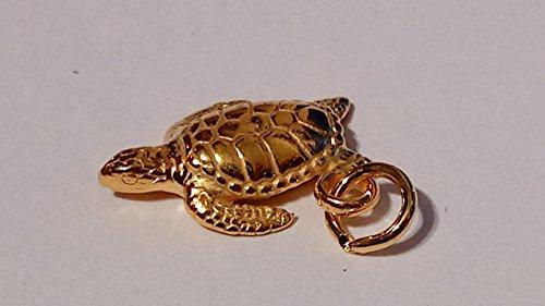 Gold Hawaiian Sea Turtle - 925 Sterling (Vermeil Turtles)