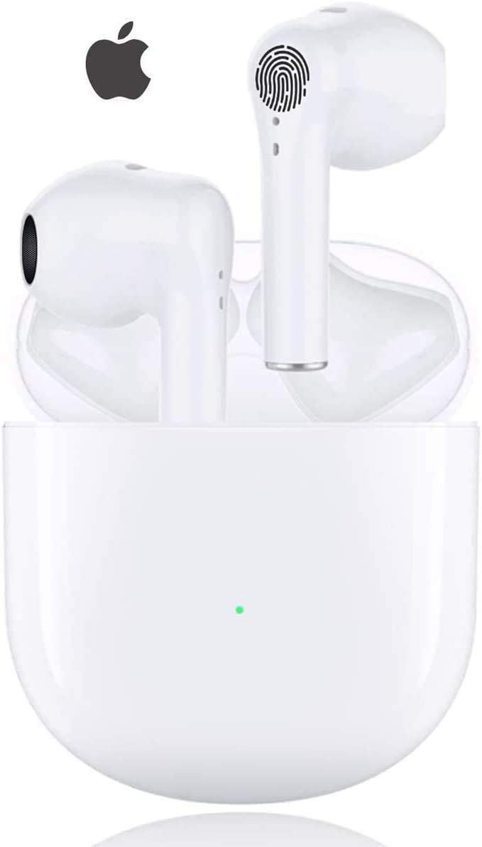 Wireless Earbuds Bluetooth 5.0 Headphones Active Noise Cancelling in Ear Ear Buds Fast Charging Touch Control HiFi Stereo with Mic Wireless Earbuds for iPhone Android Airpods Apple Earbuds (White)