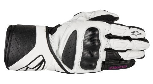 Alpinestars Womens Stella SP-8 Leather Gloves 2013 Black White S/Small