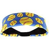 MadSportsStuff Crazy Softball Headband (Royal,...