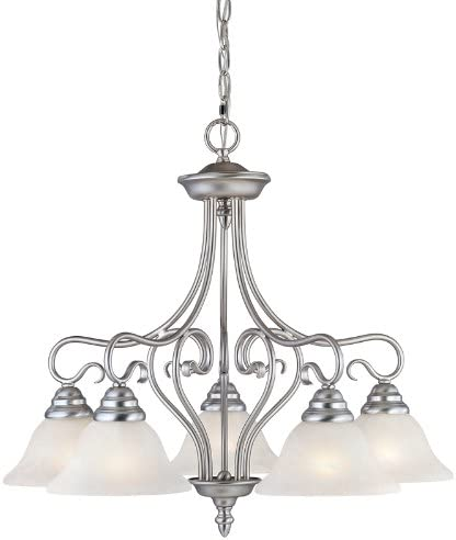 Livex Lighting 6135-91 Coronado 5 Light Brushed Nickel Chandelier