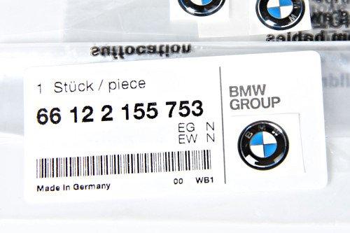 Genuine BMW E46 Cabrio Compact Coupe Key Emblems x3 11mm 3pcs OEM 66122155753 (Bmw Compact)