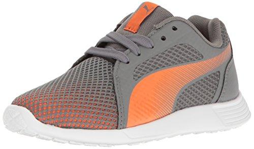 PUMA ST Trainer Evo Techfade PS Sneaker, Steel Gray-Orange Clown Fish, 1 M US Little Kid