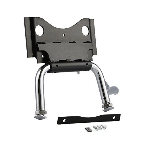XMT-MOTO Adjustable Center Stand For Harley Touring Road King Electra Glide 2009-2018(Chrome,1 Kit)