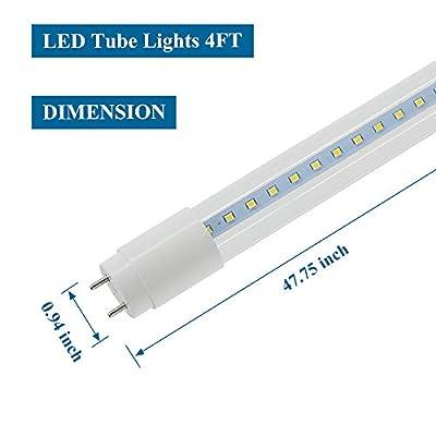 "Romwish 4FT LED Bulbs, 48"" T8 T10 T12 LED Tube Lights, Fluorescent Bulbs Replacement, Bi-Pin G13 Base, Ballast Bypass"