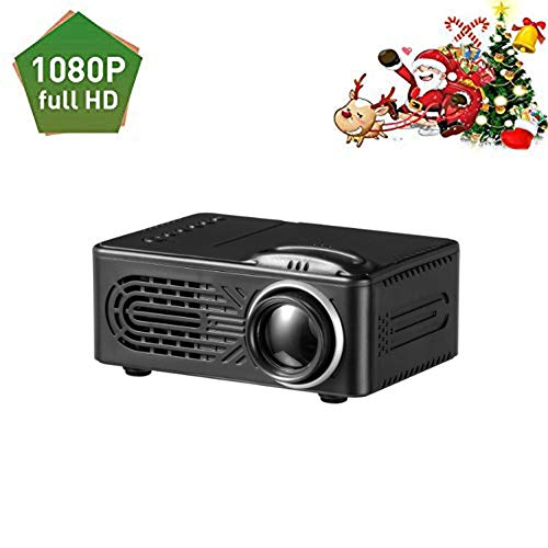 Mini Portable Projector LED Video Home Theater 1080P Built-in Speaker Media Player Personal Cinema TV Laptop Game…