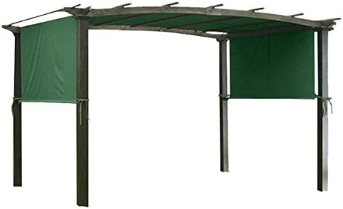 AMPERSAND Pergola Canopy Shade Replacement Cover 17 X 6.5 Ft Green