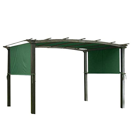 AMPERSAND Pergola Canopy Shade Replacement Cover 17 X 6.5 Ft (Green)