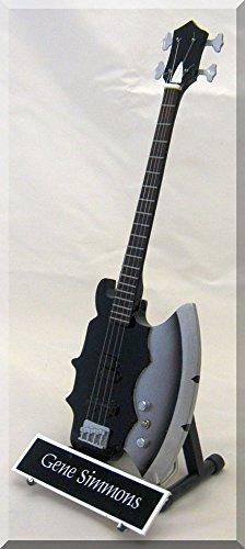 Gene Simmons miniatura Guitarra w/Nombre Kiss