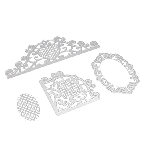 Caopixx Lace Flower DIY Scrapbooking Cutting Dies Metal Stencil Template for Greeting Card Cover Embossing (C2)