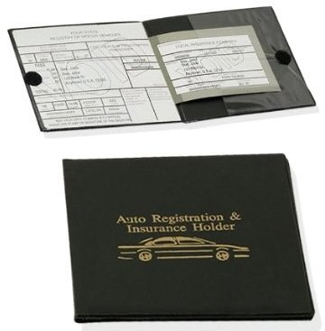 Set of 2 Vinyl Wallets for Car Auto Registration, Car Insurance, Important Documents