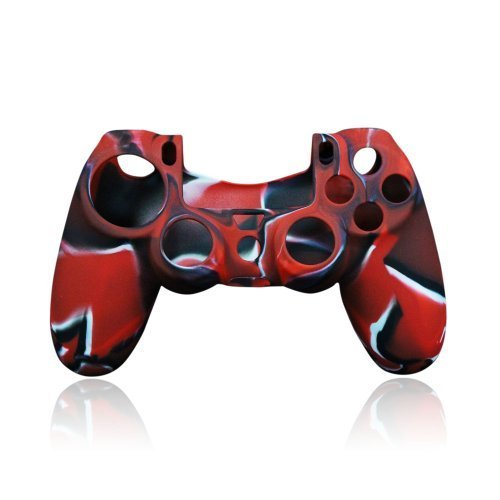 Pythons Protective Case for Sony Playstation 4 Ps4 Controller, Red and Black Camouflage Color (Skin Camo For Ps3)