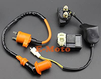 GY6 50cc 110cc 125cc 150cc CDI Box Performane Ignition Coil Starter Relay Kit For Chinease Scooter ATV Moped