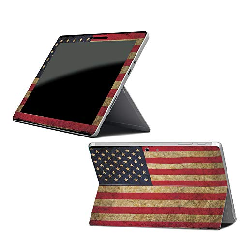 Price comparison product image Mightyskins Skin Compatible with Microsoft Surface Go - Vintage Flag / Protective,  Durable,  and Unique Vinyl Decal Wrap Cover / Easy to Apply,  Remove,  and Change Styles / Made in The USA