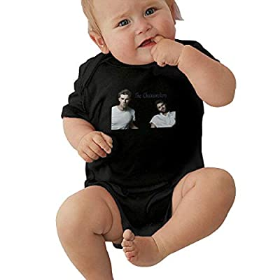 Takeyia Raw Cotton Black Onesies Cartoon Chainsmokers Climb for Baby Boy