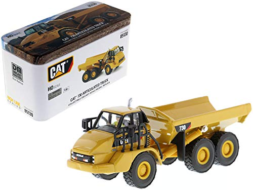 CAT Caterpillar 730 Articulated Dump Truck with Operator High Line Series 1/87 (HO) Scale Diecast Model by Diecast Masters 85130 Cat Articulated Dump Truck