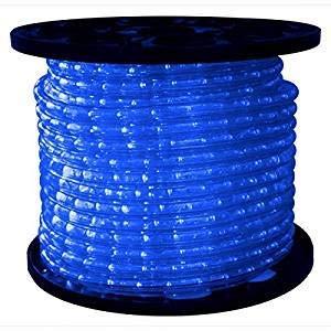 -BL-150 1-Reel 825-watt 120V Incandescent Rope Light Reels, Dimmable, 150-Feet, Blue ()