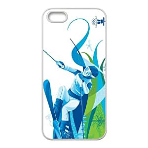 Sports alpine skiing iPhone 5 5s Cell Phone Case White gift z004hm-2312552