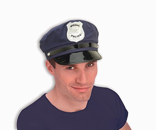 Forum Novelties 52735 Policeman Cloth Hat, Blue - Cop Costumes For 11 Year Olds