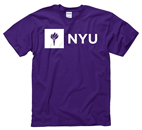 Nyu Violets Adult Just Logo T Shirt   Purple   Medium
