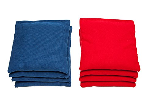 Weather Resistant Cornhole Bags (Set of 8) by SC Cornhole (Red/Royal Blue) ()