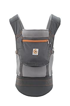 Ergobaby Original Cool Air Mesh Performance Ergonomic Multi-Position Baby Carrier with X-Large Storage Pocket, Stone Grey