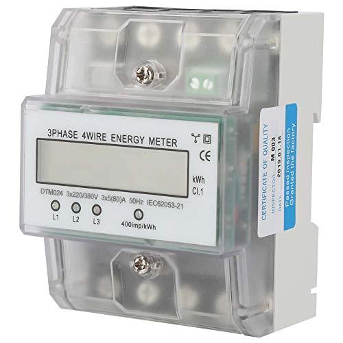 Compteur KWh-220V 5 A num/érique monophas/é 2 fils 2P compteur /électrique sur rail DIN compteur KWh /électronique Performance stable 80