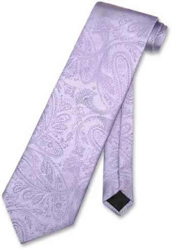 Vesuvio Napoli NeckTie LAVENDER Purple Color Paisley Design Men's Neck Tie
