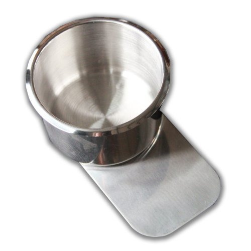 10PCS REGULAR STAINLESS STEEL POKER TABLE SLIDE UNDER CUP HOLDER REGULAR SIZE by IDS