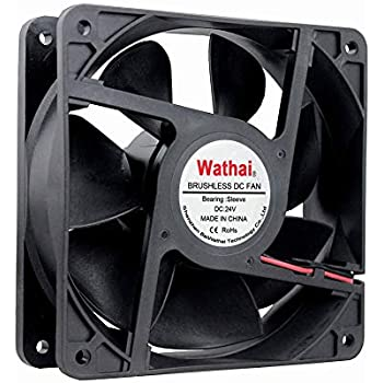 Wathai 120x120x38mm 120mm 24V 2Pin DC Industrial Cooling Case Fan