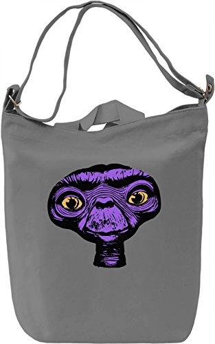 E.T. Borsa Giornaliera Canvas Canvas Day Bag| 100% Premium Cotton Canvas| DTG Printing|