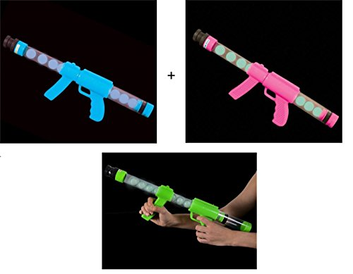 Glow in the Dark Moon Blaster - Threesome Friends Pack Set (Burp Gun)