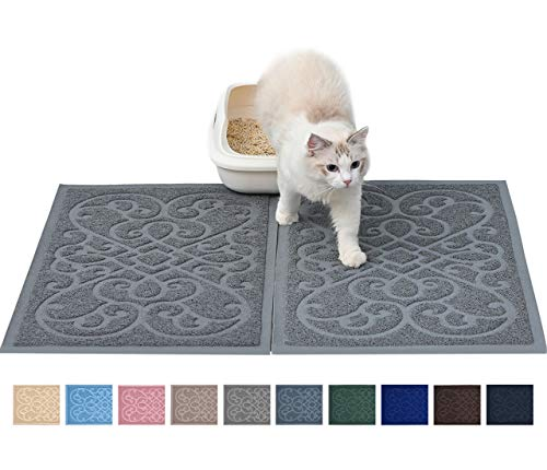 PetLike Cat Litter Mat Kitty Litter Mats, Traps Litter from Box and Cats, Cat Litter Trapping Mat Pet Feeding Mat, Soft…
