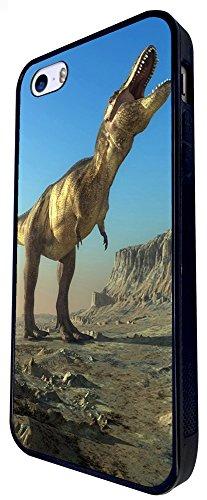 1318 - Cool Fun Trendy Cute Kawaii Dinosaur T-Rex Brachiosaurus Prehistoric Stegosaurus Raptor (2) Design iphone SE - 2016 Coque Fashion Trend Case Coque Protection Cover plastique et métal - Noir