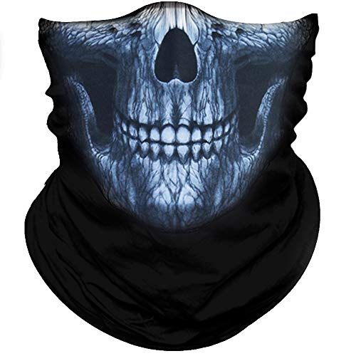 - Obacle Skull Face Mask Half for Dust Wind UV Sun Protection Seamless 3D Tube Mask Bandana for Men Women Durable Thin Breathable Skeleton Mask Motorcycle Riding Biker Fishing Cycling Sports Festival