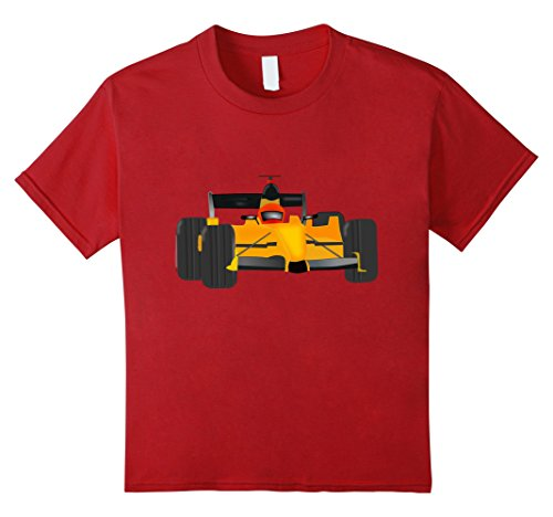 Kids Cool Race Car t-shirt Auto Racing Fan Checkered Flag Party 8 Cranberry (Auto Racing Checkered Flag)