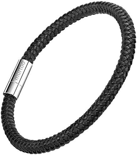 [해외]남성 팔찌 스테인리스 팔찌 액세서리 21cm (블랙) / Men`s Bracelet Stainless Steel Bangles Accessories 21cm (Black)