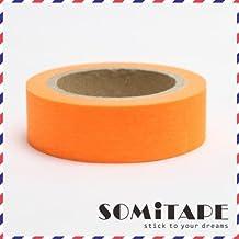 Neon Orange Plain Washi Tape, Craft Decorative Tape by Somi Tape