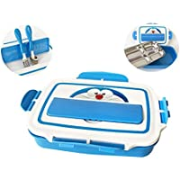 Leak Proof Bento Box for Kids, 4-Compartment Lunch Box with Spoon, Fork, Stainless Steel Food Storage Container for School, Picnics, and Travel