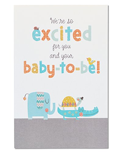 American Greetings Happy Shower Baby Shower Congratulations Card with Glitter