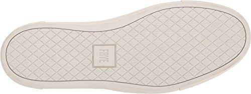 Frye Mens Gates In Pelle Intrecciata Slip On Sneakers Bianco Stampato Pieno Fiore / Morbido Nabuk Burattato / Scamosciato
