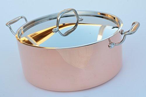 Kila Chef Thick Copper Dutch Oven, 3.5 mm Thick, 1.5 mm C...