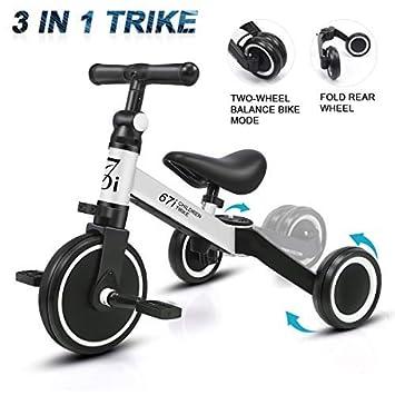 KORIMEFA 3 EN 1 Trciciclo Infantil para Niños Bicicleta de Balance ...