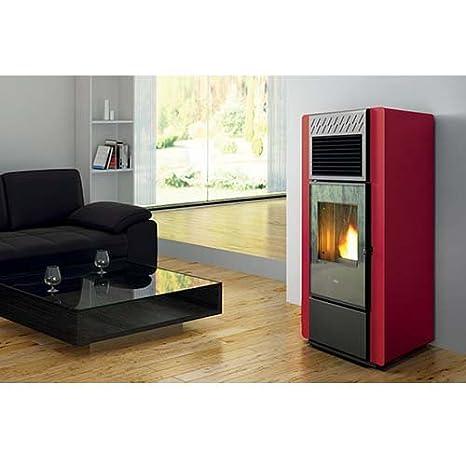 Estufa a PELLAS Eva calor Cloe 15 kW canalizzata Premium, Moka: Amazon.es: Hogar