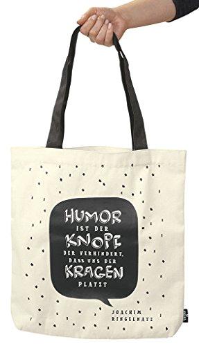 moses. libri_x Shopper Zitat Ringelnatz | Tragetasche 100% Baumwolle | Natur