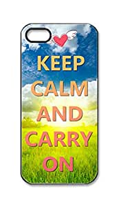 BlackKey keep calm and carry on Snap-on Hard Back Case Cover Shell for iPhone 5 5G 5s -366