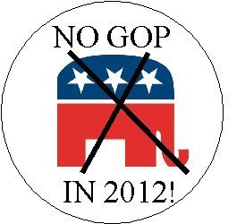 (NO GOP in 2012 Political Pinback Button 1.25