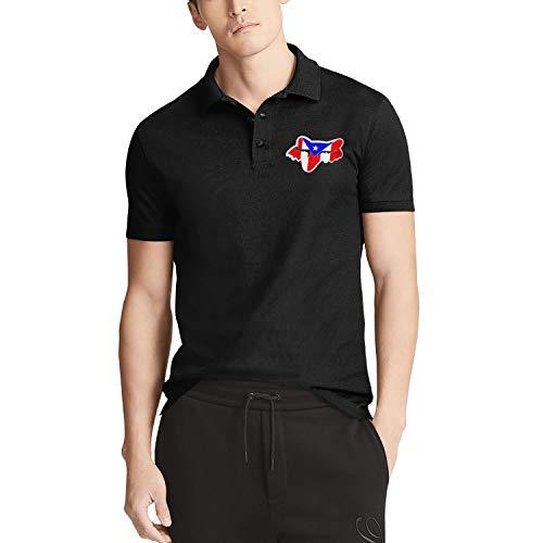 Man Fox-Racing-Logo-Sticker- Short Sleeve Polo T-Shirt