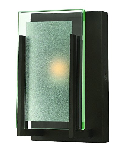 Hinkley 5650OZ Contemporary Modern One Light Bath from Latitude collection in Bronze/Darkfinish, (Hinkley Latitude)